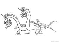 Дракон Пристеголов - скачать и распечатать раскраску. Раскраска Дракон