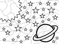 Космос - скачать и распечатать раскраску. Раскраска космос, антистресс