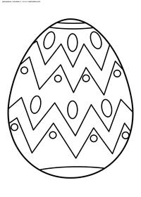 Пасхальное яйцо - скачать и распечатать раскраску. Раскраска пасха