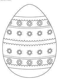 Пасхальное яйцо - скачать и распечатать раскраску. Раскраска