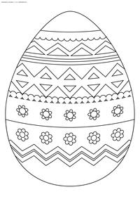 Расписное яйцо - скачать и распечатать раскраску. Раскраска