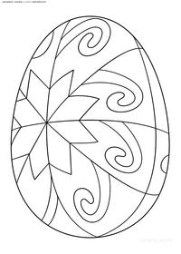 Яйцо к пасхе - скачать и распечатать раскраску. Раскраска яйцо, пасха
