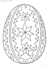 Раскрашенное яйцо на Пасху - скачать и распечатать раскраску. Раскраска яйцо, пасха