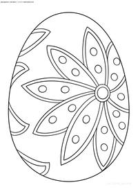 Яйцо на Пасху - скачать и распечатать раскраску. Раскраска яйцо, пасха