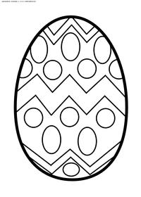 Раскрашенное яйцо - скачать и распечатать раскраску. Раскраска яйцо, пасха