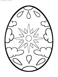 Пасхальное яйцо - скачать и распечатать раскраску. Раскраска яйцо, пасха