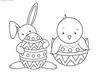 Пасхальное яйцо - скачать и распечатать раскраску. Раскраска Картинка для раскрашивая с пасхой, пасхальная раскраска