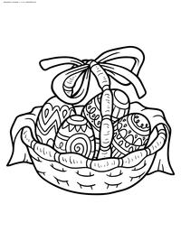 Пасхальные яйца - скачать и распечатать раскраску. Раскраска Картинка с пасхальными яйцами скачать бесплатно