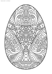 Пасхальное яйцо - скачать и распечатать раскраску. Раскраска яйцо, антистресс, Пасха