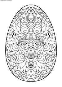 Пасхальное яйцо - скачать и распечатать раскраску. Раскраска Пасха, яйцо, антистресс