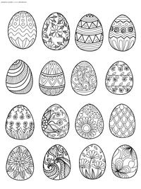 Пасхальные яйца - скачать и распечатать раскраску. Раскраска Пасха, яйцо, антистресс