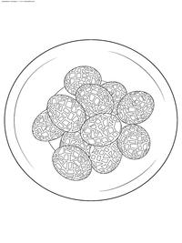 Пасхальные яйца - скачать и распечатать раскраску. Раскраска Пасха, яйца