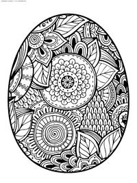 Писанка - скачать и распечатать раскраску. Раскраска яйцо, Пасха