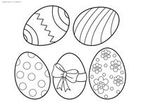 Пасхальные яйца - скачать и распечатать раскраску. Раскраска яйца, пасха