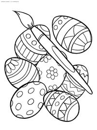 Яйца к празднику Пасхе - скачать и распечатать раскраску. Раскраска Пасхальные яйца, красивые яйца, раскраска с яйцами скачать