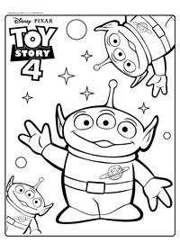 Игрушечные инопланетяне - скачать и распечатать раскраску. Раскраска Пришельцы, игрушки