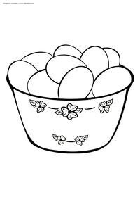 Пасхальные яйца - скачать и распечатать раскраску. Раскраска яйца