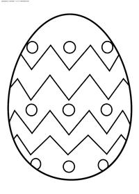 Крашеное яйцо - скачать и распечатать раскраску. Раскраска яйцо, пасха