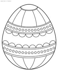 Пасхальное яйцо - скачать и распечатать раскраску. Раскраска пасха, яйцо