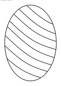 Яйцо к Пасхе - скачать и распечатать раскраску. Раскраска пасха, яйцо