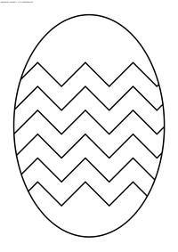 Раскрашенное яйцо - скачать и распечатать раскраску. Раскраска пасха, яйцо