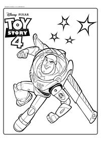 Базз Лайтер - скачать и распечатать раскраску. Раскраска Игрушка