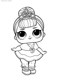 ЛОЛ Crystal Queen (Королева Кристалл) серия 1 - скачать и распечатать раскраску. Раскраска лол