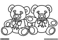 Мишки - скачать и распечатать раскраску. Раскраска Раскраска для маленьких детей с медведями, раскраска для малышей мишутки