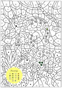 Трицератопс - скачать и распечатать раскраску. Раскраска по символам