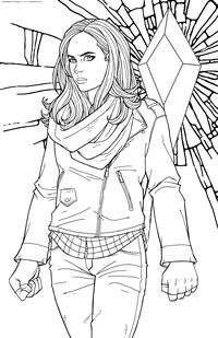Частный детектив Джессика Джонс - скачать и распечатать раскраску. Раскраска Персонаж Марвел