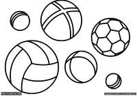 Мячи - скачать и распечатать раскраску. Раскраска Простая раскраска мячи для малышей