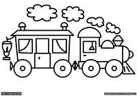 Паровозик - скачать и распечатать раскраску. Раскраска Раскраска для малышей, простая раскраска паровоз