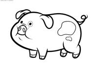 Свинка Пухля - скачать и распечатать раскраску. Раскраска Свинка из Гравити Фолз