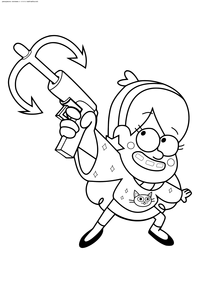 раскраски гравити фолз Gravity Falls Free Coloring Pages
