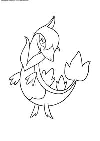 Покемон Сервайн (Servine) - скачать и распечатать раскраску. Раскраска Покемон