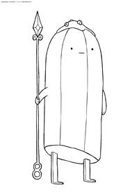 Банановый стражник - скачать и распечатать раскраску. Раскраска Время приключений