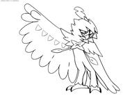 Покемон Десидью (Decidueye) - скачать и распечатать раскраску. Раскраска Покемон