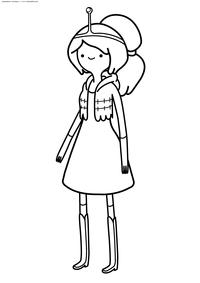 Принцесса Бубльгум - скачать и распечатать раскраску. Раскраска Принцесса Жвачка, Время приключений