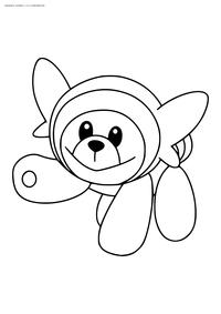 Покемон Стаффул (Stufful) - скачать и распечатать раскраску. Раскраска Стаффул - покемон двух типов: Нормальный и Боевой.<br>Эволюционирует в покемона Бьюэр на 27 уровне