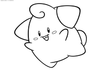 Покемон Клеффа (Cleffa) - скачать и распечатать раскраску. Раскраска Покемон