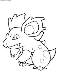 Покемон Нидорина (Nidorina) самка - скачать и распечатать раскраску. Раскраска Нидорина— покемон ядовитого типа из первого поколения покемонов. Является самкой Нидорино. Эволюционирует из Нидоран на 17 уровне. После эволюционирует в Нидоквин с помощью Лунного Камня