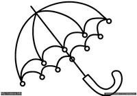 Зонтик - скачать и распечатать раскраску. Раскраска Раскраска зонт для малышей, простая раскраска зонт