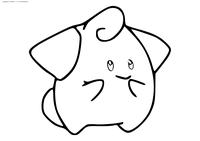 Покемон Клеффа (Cleffa) - скачать и распечатать раскраску. Раскраска Клефа - покемон Волшебного типа. Эволюционирует в покемона Клефэйри