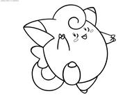 Покемон Клефэйри (Clefairy) - скачать и распечатать раскраску. Раскраска Клефэйри - покемон Волшебного типа. Эволюционирует в покемона Клефэйбл с помощью Лунного камня