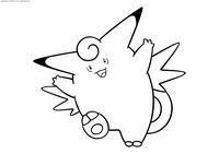 Покемон Клефэйбл (Clefable) - скачать и распечатать раскраску. Раскраска Клефэйбл - покемон Волшебного типа. Эволюционирует из покемона Клефэйри с помощью Лунного камня