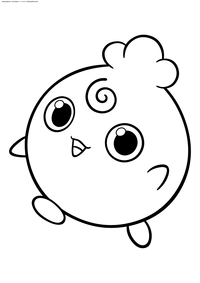 Покемон Игглибафф (Igglybuff) - скачать и распечатать раскраску. Раскраска Игглибафф - покемон двух типов: Нормальный и Волшебный. Эволюционирует в покемона Джигглипафф когда повышается уровень покемона при счастье от 220