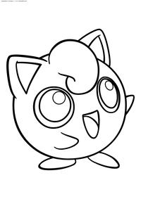 Покемон Джигглипафф (Jigglypuff) - скачать и распечатать раскраску. Раскраска Джигглипафф - покемон двух типов: Нормальный и Волшебный. Эволюционирует из покемона Игглибафф при повышении уровня при счастье от 220. Эволюционирует в покемона Вигглитафф с помощью Лунного камня