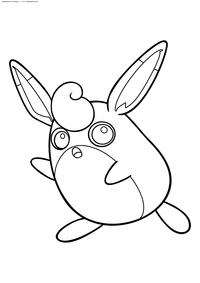 Покемон Вигглитафф (Wigglytuff) - скачать и распечатать раскраску. Раскраска Вигглитафф - покемон двух типов: Нормальный и Волшебный. Эволюционирует из покемона Джигглипафф с помощью Лунного камня