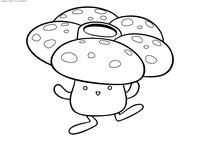 Покемон Вайлплум (Vileplume) - скачать и распечатать раскраску. Раскраска Вайлплум - покемон двух типов: Травяной и Ядовитый. Эволюционирует из покемона Глум с помощью Лиственного камня