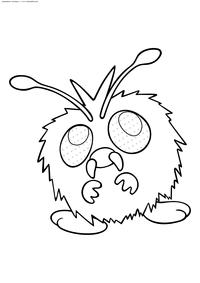 Покемон Венонат (Venonat) - скачать и распечатать раскраску. Раскраска Венонат - покемон двух типов: Насекомый и Ядовитый. Эволюционирует в покемона Веномот на 31 уровне